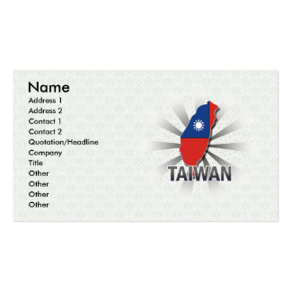 Taiwan Flag Map 2.0 Double-Sided Standard Business Cards (Pack Of 100)