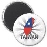 Taiwan Flag Map 2.0 Fridge Magnet