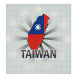 Taiwan Flag Map 2.0 Print