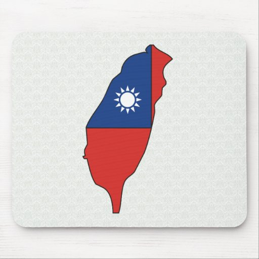 Taiwan Flag Map full size Mouse Pad