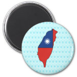 Taiwan Flag Map full size Refrigerator Magnets