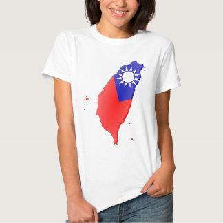 Taiwan Flag Map Tee Shirt