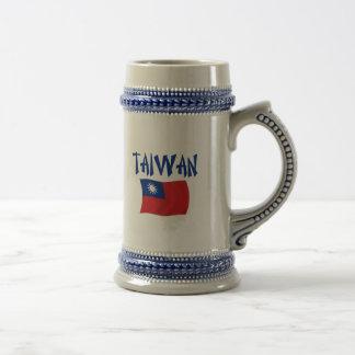 Taiwan Flag Coffee Mugs