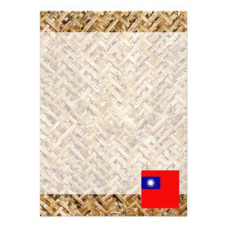 Taiwan Flag on Textile themed Card