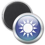 "Taiwan Flag ""Orb"" Refrigerator Magnet"