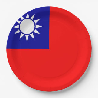 Taiwan Flag Paper Plate