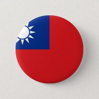 Taiwan Flag Pinback Button