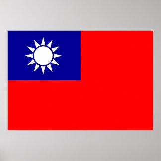 Taiwan Flag Poster