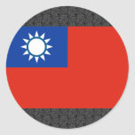 Taiwan Flag Round Stickers