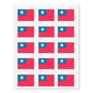 Taiwan Flag Temporary Tattoos