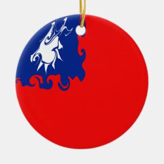 Taiwan Gnarly Flag Ceramic Ornament
