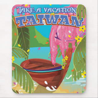 Taiwan island vintage travel poster art. mouse pad