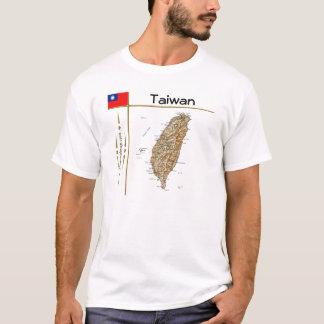 Taiwan Map + Flag + Title T-Shirt
