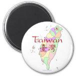 Taiwan Map Fridge Magnets