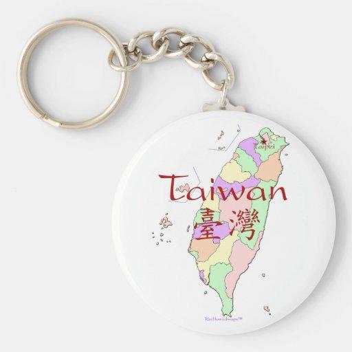 Taiwan Map Keychains
