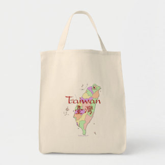 Taiwan Map Tote Bag
