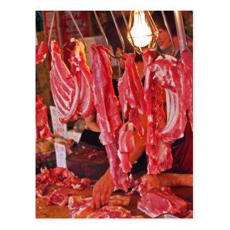 Taiwan Meat Market Postcard