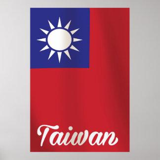 Taiwan National Flag Travel poster