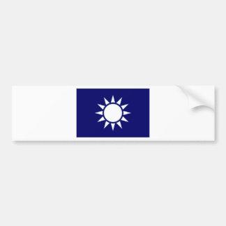 Taiwan Naval Jack Bumper Sticker