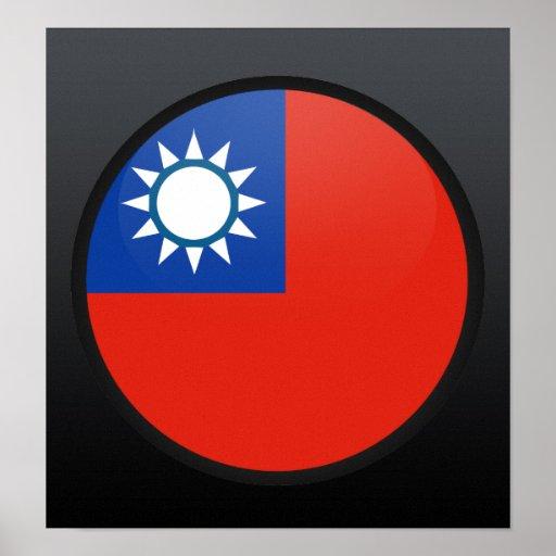 Taiwan quality Flag Circle Posters