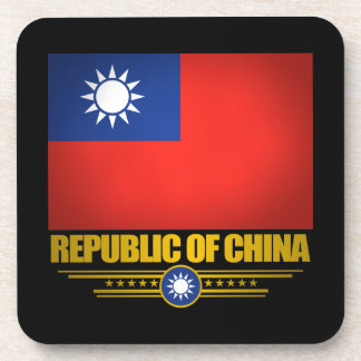 Taiwan (Republic of China) Flag Drink Coasters