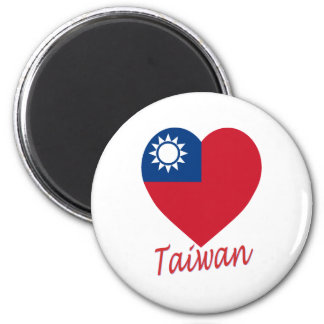 Taiwan (Republic of China) Flag Heart Magnet