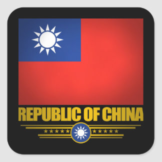 Taiwan (Republic of China) Flag Square Sticker