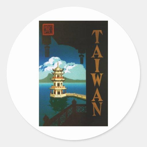 Taiwan Round Stickers