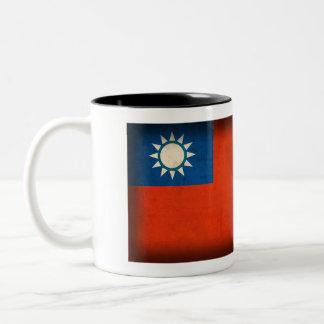 Taiwan Taipei Flag Distressed Mug