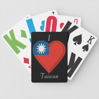 Taiwan Taiwanese flag: ADD TEXT Bicycle Playing Cards
