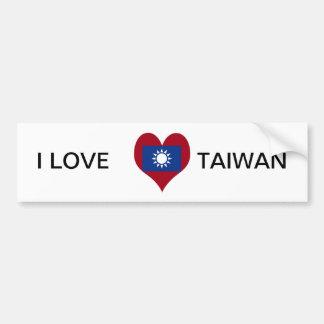 Taiwan Taiwanese flag Bumper Sticker