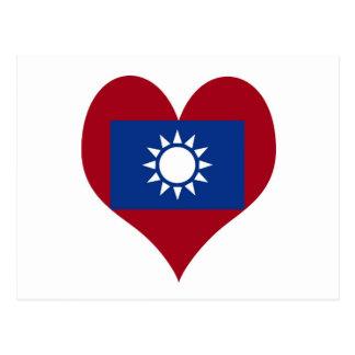 Taiwan Taiwanese flag Postcard