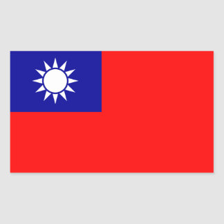 Taiwan/Taiwanese Flag Rectangular Sticker