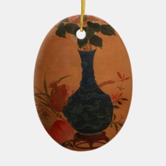 Taiwan vintage art ceramic ornament
