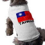 Taiwan Vintage Flag Pet Clothing