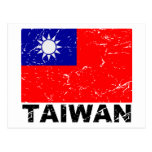 Taiwan Vintage Flag Post Cards