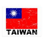 Taiwan Vintage Flag Postcard