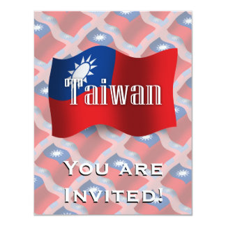 Taiwan Waving Flag Card