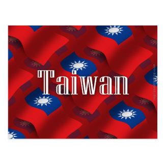 Taiwan Waving Flag Postcard