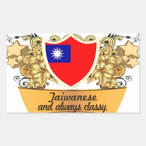 Taiwanés con clase pegatina rectangular