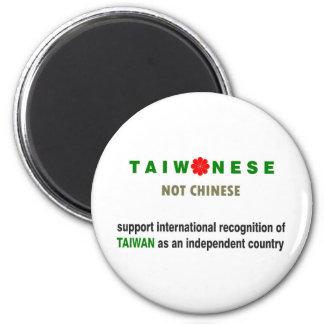 Taiwanés no chino imán redondo 5 cm