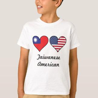 Taiwanese American Flag Hearts T-Shirt