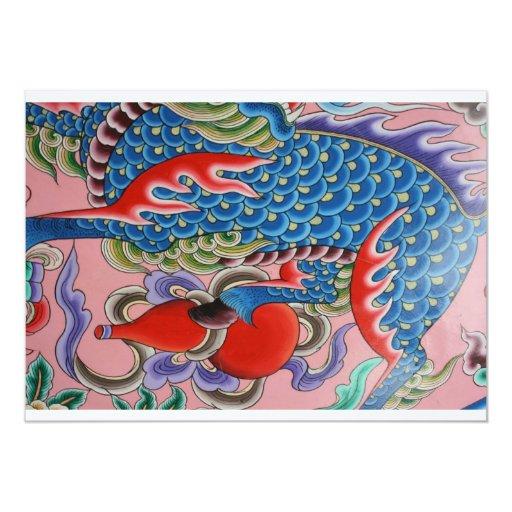 Taiwanese art 5x7 paper invitation card