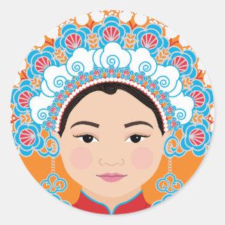 Taiwanese Bride Matryoshka Sticker