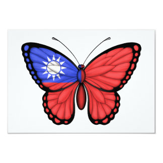Taiwanese Butterfly Flag 3.5x5 Paper Invitation Card