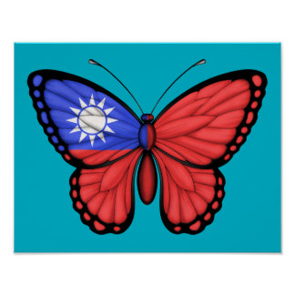 Taiwanese Butterfly Flag Poster
