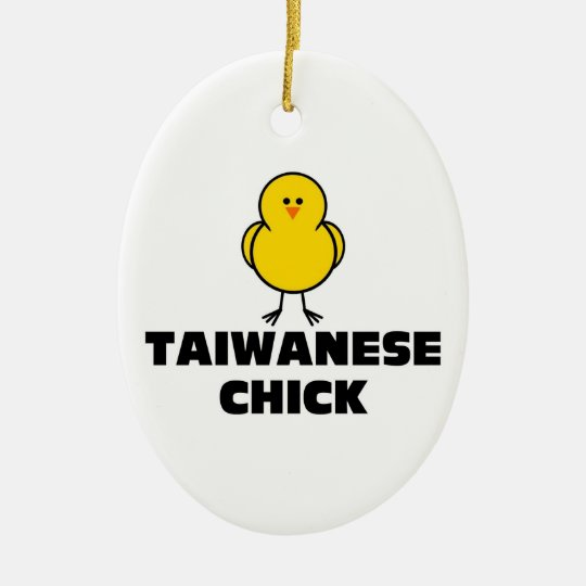 Taiwanese Chick Ceramic Ornament