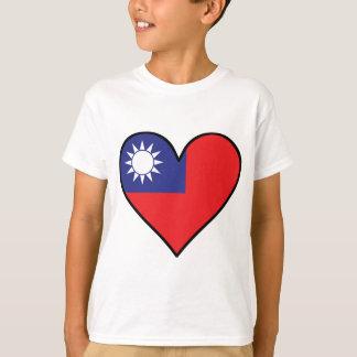 Taiwanese Flag Heart T-Shirt