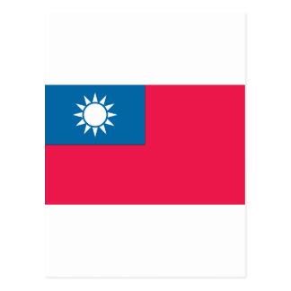 Taiwanese Flag Postcard