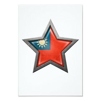 Taiwanese Flag Star 3.5x5 Paper Invitation Card